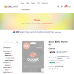Boost Prepaid $158 | 12 Months Expiry | 110GB Data | Unlimited Talk & Text | Overseas* | @ Cellmate