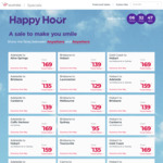Virgin Happy Hour: SYD <> Byron $69, MEL <> LST $75, MEL <> ADL $90, Bri <> MEL $129, PER <> DRW $189 @ Virgin