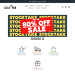 Up to 80% off Storewide: All Novelty Socks $3.99 Each + Delivery ($0 with $55 Spend) @ SOX M8