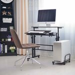 Rolling Stand-up Computer Desk Workstation Height Adjustable Table $49.95 + Delivery (Free Metro Delivery) @ AUCHOICE