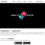 50% off Premium/Traditional Pizzas (App Only) @ Domino's