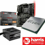 Bundle Deal of AMD 3500X+ MSI B450 TOMAHAWK Max II + Corsair CX550M $399 Delivered @ HT eBay