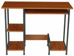 Compact Computer Desk with Shelves and PC Case Position in Brown/Walnut for US$47.99 or A$62.20 Delivered AU Stock @ Banggood AU