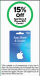 15% off App Store & iTunes Gift Cards (Excluding $20 Gift Cards) | amaysim $30 Starter Kit $9 (+ 600 Bonus Points) @ Woolworths