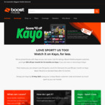 $10 off Per Month Kayo Subscription for 12 Months via Boost Mobile
