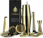 VinoBravo Boston Cocktail Shaker Set 11PC Bartender Kit (Gold) $54.05 Delivered @ GeniusDesignAUD via Amazon AU