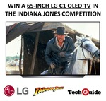 """Win an LG 65"""" C1 OLED TV & Indiana Jones Prize Pack Worth Over $5,500 from TechGuide"""