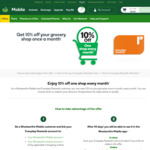 10% off Your Grocery Shop Once a Month ($50 Discount Cap) @ Woolworths (For Woolworths Insurance / Money / Mobile Customers)