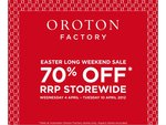 Oroton - 70% off RRP Storewide - Factory Outlets Only