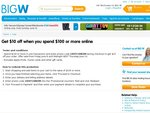 Get $10 off When You Spend $100 or More Online at BIG W
