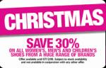 30% off All Womens, Mens and Childrens Shoes @ David Jones