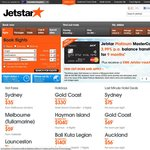 Jetstar Friday Fare Frenzy - 4 Pm - 10pm AEDT (Deal Extended)