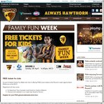 FREE Junior Tickets to The Round 5 AFL Match Hawthorn V North Melbourne at The MCG (Save $4.50?)