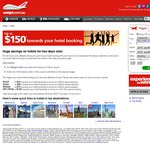 Webjet - up to $150 off Hotel Stay. $200 Min Spend = $30 off