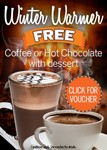 Voucher: Free Coffee, Tea Or Hot Chocolate With Any Dessert at 115 Venues in VIC, SA, NSW & TAS