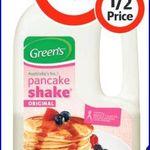 Green's Pancake Shake 200g $1.00 at Coles (Save $1.18)