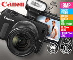 Canon EOS M 18MP Camera w/ Dual Lens & Flash $450 + $8 to Sydney @COTD [Warranty Issue?]