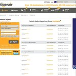 TigerAir $33.95 Selected Route Sale (SYD-OOL, MLB-ADL, MLB-HBA)