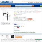 Earphone Black Noodle Cable $1.49 USD Delivered @Meritline