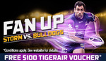 Free $100 TIGERAIR Voucher When You Pre Purchase a Family Ticket for Melbourne Storm Vs Bulldogs