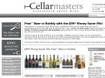 Free Case of Beer or 3 Free Bottles of Champagne with a $99 Box of Wine from Cellarmasters