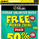 Get 50% off CD'S ($50 Value) When You Sign up to JB Hi-Fi Now Music FREE Trial