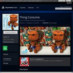 "(PS 3/4/V) Marvel's ""Thing"" Costume for LittleBigPlanet 1 / 2 / 3 / Karting - Free Usually $2.95"