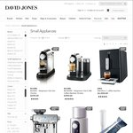 20% off on All Full-Priced Small Appliances at David Jones ONE DAY ONLY Thursday 7 May
