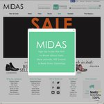 Midas Shoes 20% off Discount Code