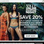 David Jones VOSN: Save 20% on Great Range of Full Priced Items in Fashion, Shoes and Accessories