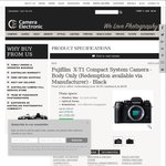 Fujifilm Sale at Camera Electronic - X-T1 Body $1039 ($939 after Cashback) and More
