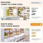 20% off IVAR Storage & Waste Sorting Bins 19 Feb-17 Mar 16; 29% off Selected Items on 29 Feb @ IKEA (Excludes SA/WA)