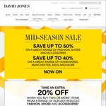 Take an Extra 20% off Already Reduced Prices When You Purchase 2 or More Items at David Jones