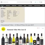 24 Bottles of Wine for $124.20 Delivered or C&C (with Coupon) @ Cellarmasters ($74.20 Delivered for AmEx Holders)