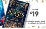 Fantastic Beasts and Where to Find Them The Original Screenplay: $19 at Target (RRP $39.99)