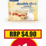 Paul's Double Thick Vanilla Custard 900g $1 @ NQR [Vic]