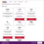 TPG 4G SIM Only Mobile Plans (No Lock-in): 6 Months Half Price, $19.99 7GB or $15 3GB, Unlimited Local & 100 Mins Int'l Calls