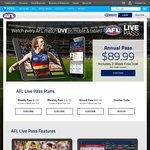 Free AFL Live Pass 2017 - Telstra Customers (Postpaid or Prepaid with $30+ Recharge)