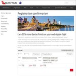 Earn 50% More Points on Qantas Flights