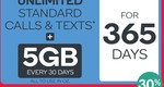Kogan Mobile Unlimited 5GB Plan $16.90/ Month ($205.58 Yearly) on 365 Day Plan