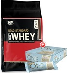 Optimum Nutrition GOLD STANDARD 100% WHEY 10LB + BOX of 12 Protein Bars Combo - $135.12 + Free Shipping @ Genesis eBay