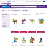 Toys R Us Buy 2 for $25 on The LAMAZE Peg Toys