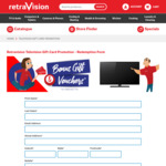 Receive up to $425 Retravision Gift Card on Selected TV Purchases from Retravision
