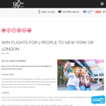 Win a Return Economy Flight to London or New York for 2 People Flying Qantas Airways or Virgin Australia Worth $4,000 from iFly