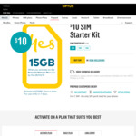 Buy $10 Optus Sim Starter Kit and Receive 15GB Bonus Data When You Activate and Choose Prepaid Ultimate Plus Plan