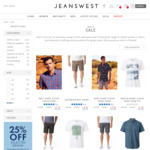Take Further 40% off on Already Reduced Shirts T Shirts and Shorts @ Jeanswest