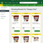 Haagen Dazs Ice Cream Varieties $8 (Was $12.50/$11.50) @ Woolworths