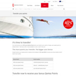 Up to 40% Bonus Qantas Points When You Transfer Your Credit or Charge Card Reward Points to Qantas Points