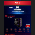 Buy a Selected M.SPEC Gaming PC ($1749 - $2559) and Get a Free XBOX ONE S 1TB @ MSY (Instore & Online)