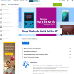 eBay Mega Weekends List & Sell for $1 (+GST)